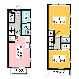 [テラスハウス] 愛知県名古屋市千種区桜が丘 の賃貸【/】の間取り