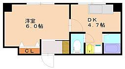 第一福徳ビル[4階]の間取り