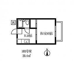 164102 ローズガーデン[103号室]の間取り
