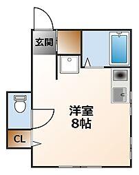 大山マンション[4階]の間取り