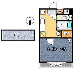 イムーブルF[3階]の間取り