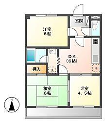 マンションオークラ[2階]の間取り