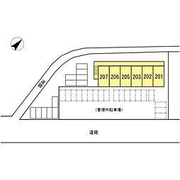 (仮)長門市駅前アパート[2階]の外観