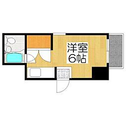 コーポ高倉[2B号室]の間取り