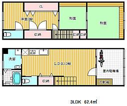 [一戸建] 兵庫県神戸市兵庫区小河通5丁目 の賃貸【/】の間取り