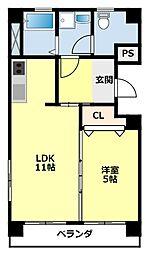 愛知県豊田市土橋町8の賃貸マンションの間取り