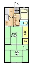 コーポ鎌倉[102号室]の間取り