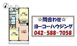 東京都あきる野市草花の賃貸マンションの間取り