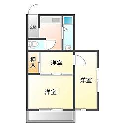 FUJIマンション[3階]の間取り