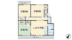 森田ハイツ[301号室]の間取り