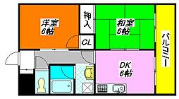 サンハイツ・高井田 106号室[1階]の間取り