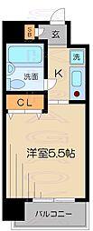 東京都目黒区中根1丁目の賃貸マンションの間取り