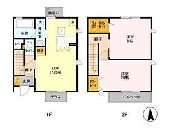 [テラスハウス] 神奈川県藤沢市円行2丁目 の賃貸【/】の間取り