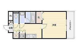 KWプレイス平野[7階]の間取り
