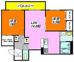 サントノーレ 302号室[3階]の間取り