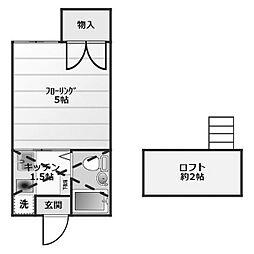 ニューリリーレジデンスB棟[2階]の間取り