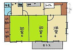 [一戸建] 栃木県足利市南大町 の賃貸【/】の間取り