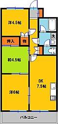 グランブレ西川田[5階]の間取り