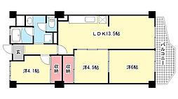 岡本センチュリーマンション[316号室]の間取り