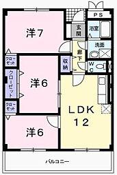 グレース尾崎[1階]の間取り