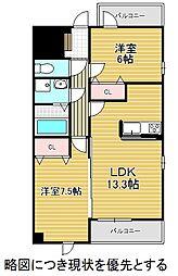 愛知県名古屋市千種区清明山2丁目の賃貸マンションの間取り