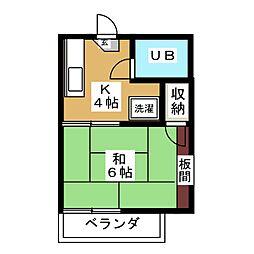 フォーブル宝町[2階]の間取り