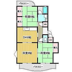 丸山マンション[1階]の間取り