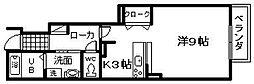 大阪府岸和田市尾生町5丁目の賃貸アパートの間取り