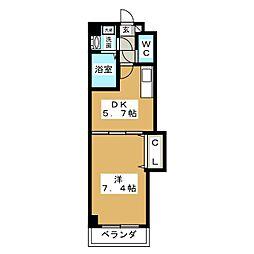 シャンブル白壁[2階]の間取り