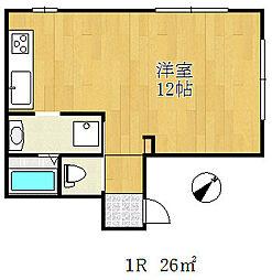 川西ビル[4階]の間取り