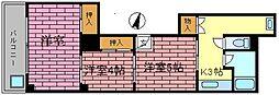 原マンション[3F号室]の間取り