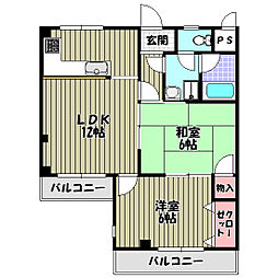 アパートメント翆月[3階]の間取り