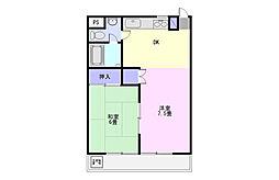 埼玉県鶴ヶ島市富士見2丁目の賃貸アパートの間取り