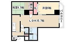 愛知県名古屋市天白区原4の賃貸マンションの間取り