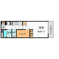 レオパレスUrban桂坂[4階]の間取り