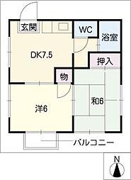 ブルーメゾン白壁[1階]の間取り