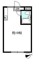 第2横井マンション[201号室]の間取り