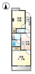 城西FUJIマンション[2階]の間取り