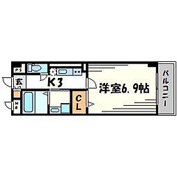 ラッフィナートフィオーレ[2階]の間取り