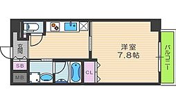 ソレイユ中崎[6階]の間取り