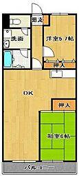 シャンクレル[2階]の間取り