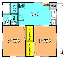 メゾン平井2[103号室]の間取り