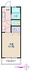 ユゲタマンション[3階]の間取り