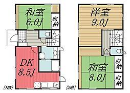 [一戸建] 千葉県千葉市若葉区みつわ台4丁目 の賃貸【/】の間取り