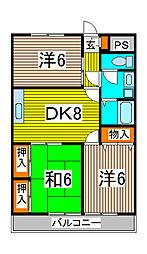 長澤マンション[2階]の間取り
