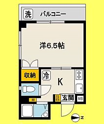 東京都中野区南台3丁目の賃貸マンションの間取り