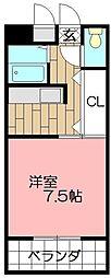 ピュアシティ小倉[1101号室]の間取り