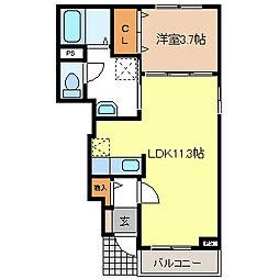 メゾンモビリア[1階]の間取り