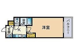 エステムコート博多祇園ツインタワーファーストステージ[4階]の間取り