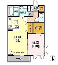 (仮)D-room蓮正寺[1階]の間取り